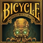 Steampunk Cthulhu Bicycle Playing Cards. Two in one