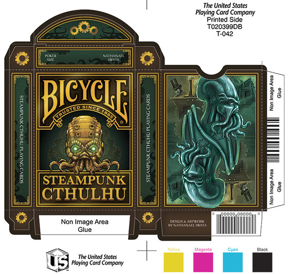 steampunk cthulhu bicycle playing cards two in one max playing cards. Black Bedroom Furniture Sets. Home Design Ideas