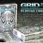 Bicycle Grid 2.0 deck with ultraviolet ink. Amazing!