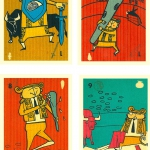 Reprint of a bullfighting mexican comic deck circa 1960