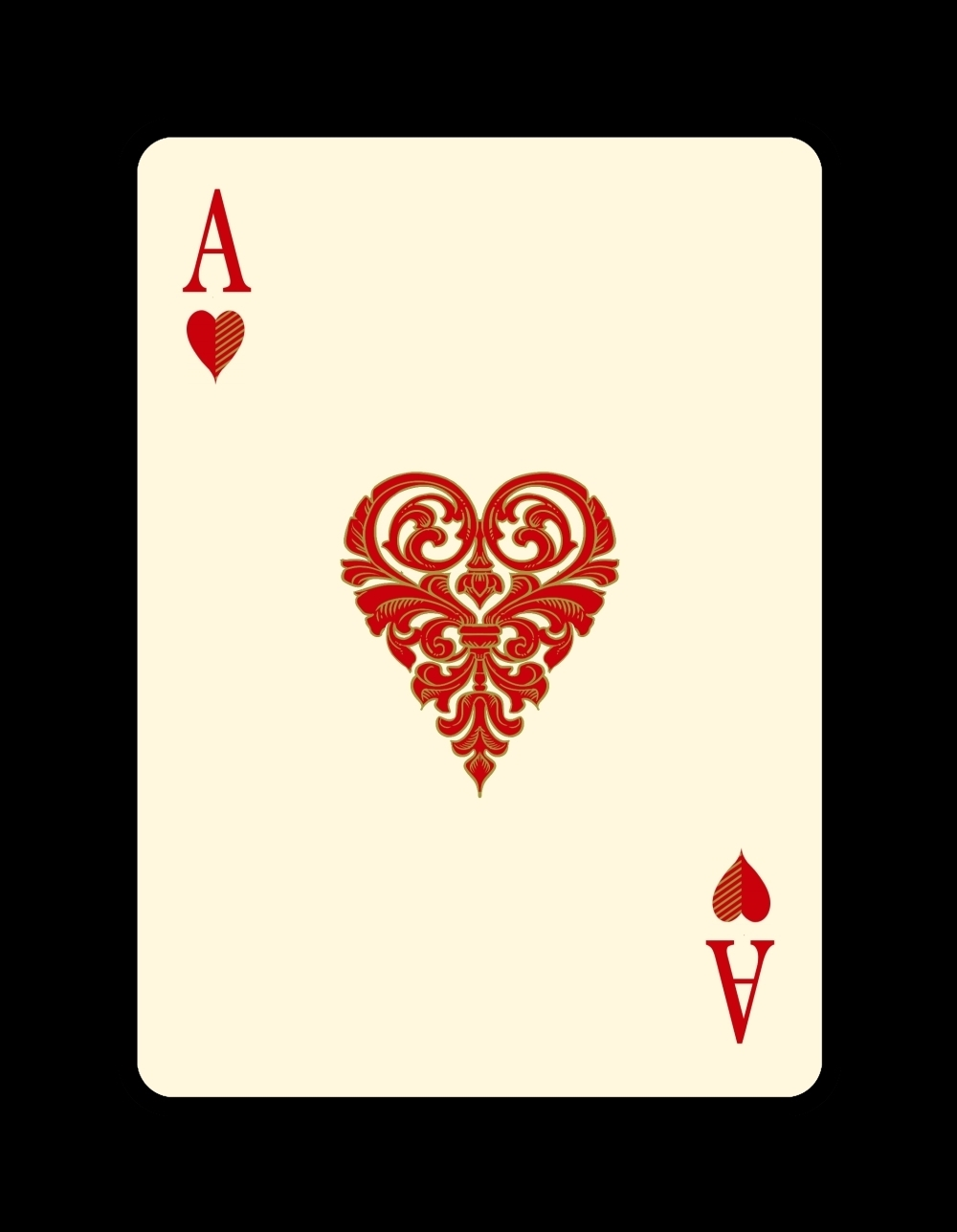 venexianaace of hearts med max playing cards
