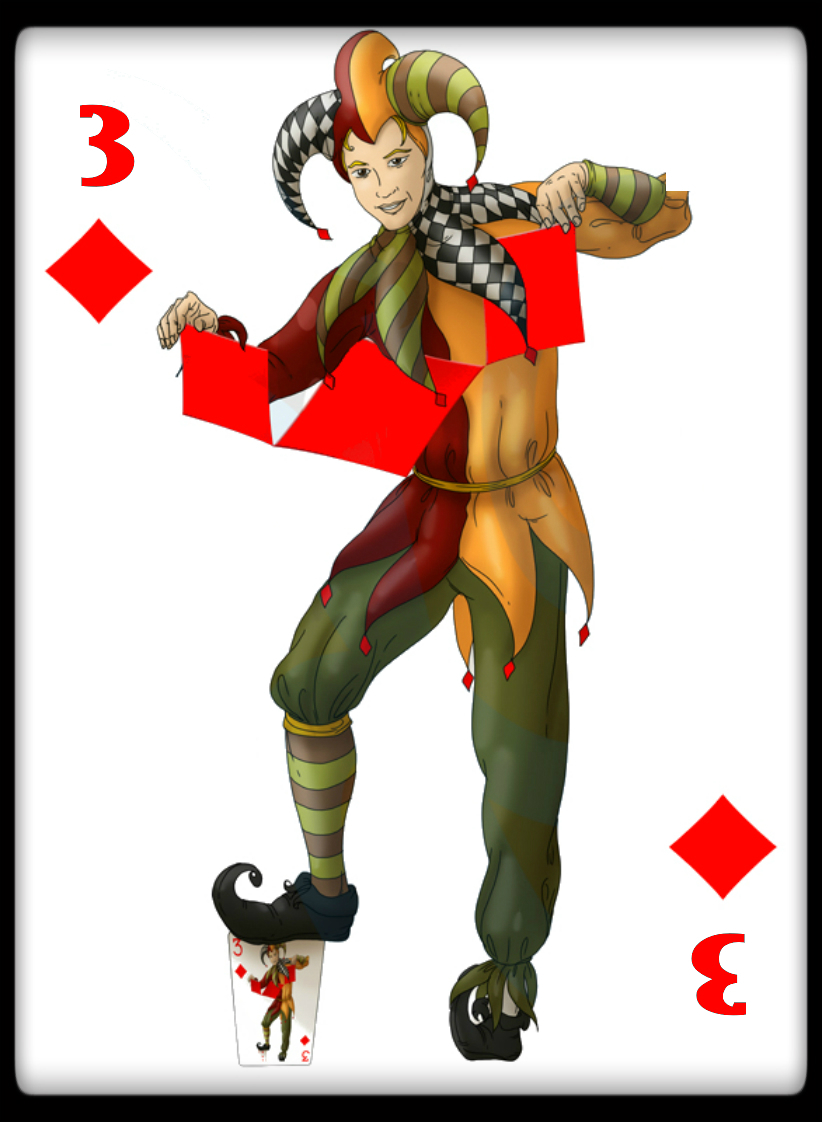 4jokers 3clubbordered Max Playing Cards