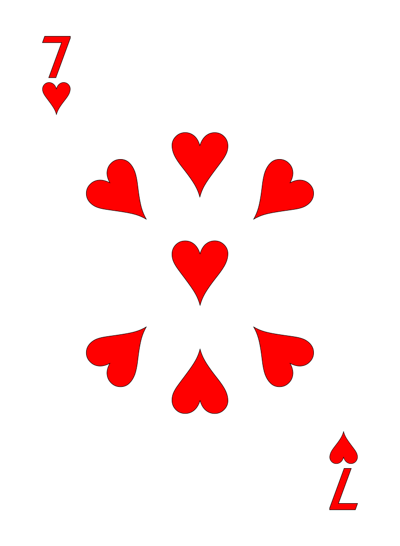 Hearts – 7 - Max Playing Cards
