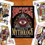 Gods of Mythology Bicycle deck. Gods and godesses wait for printing