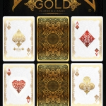 Gold Bicycle deck by Elite. Playing cards with many carats