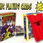 Comic Cards Issue #1 deck. Playing cards with superpowers
