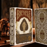 Bicycle Plugged Nickel decks. Skeleton cowboys tied with barbed wire