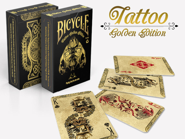 Bicycle tattoo golden deck engrave it in your collection for Bicycle club tattoo deck
