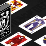 Evil Deck. Funny vector monsters invade these playing cards