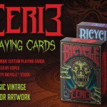Bicycle Eerie Playing Cards. Dark and classic terror