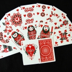 Bicycle Russian Folk Art Playing Cards. From Russia with Art