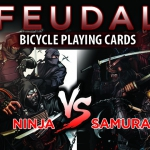 Bicycle Feudal Playing Cards. The epic battle between Ninjas and Samurais