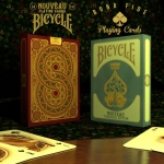 NOUVEAU Bicycle deck. Old playing cards inspiration with French modernist refinement