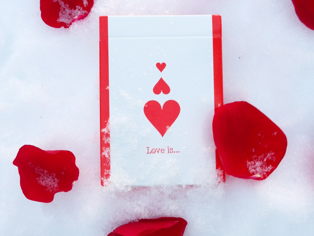 Love Is Playing Cards Love me again but this time forever – Valentines Playing Cards