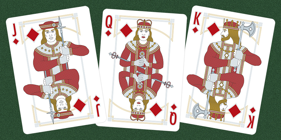 Modern playing cards designs