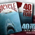 40 Years of Fear Playing Cards. Daddy! That shark has bitten my deck!
