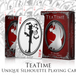 TeaTime Silhouette Playing Cards. Beautiful, romantic and obscure shapes