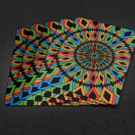 Rainbow Illusion Playing Cards. Color in every pip you look