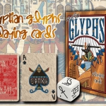 EGYPTIAN GLYPHS Playing Cards. Colorful pharaohs and gods of antiquity