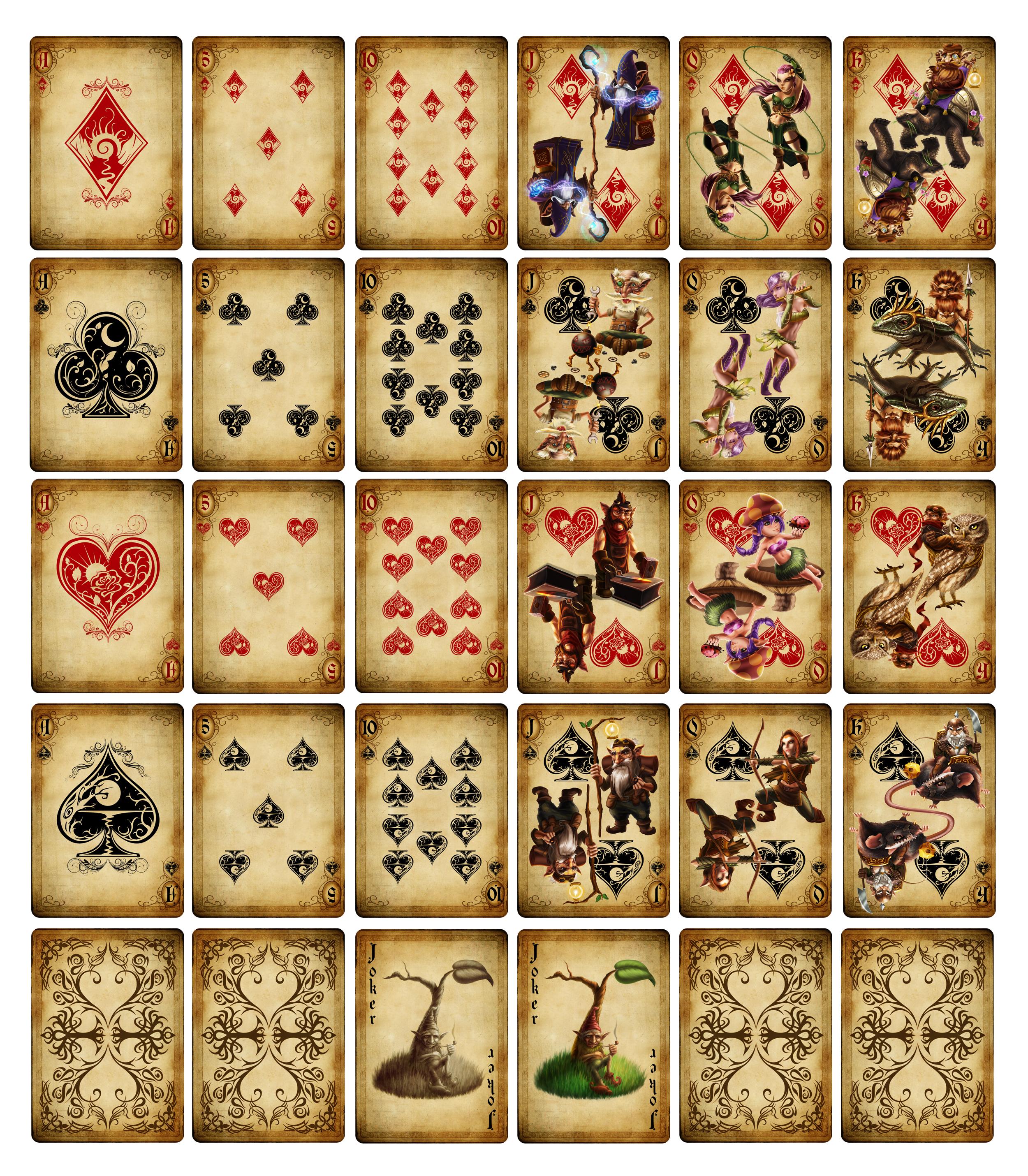 Как сделать игральные карты своими руками 45