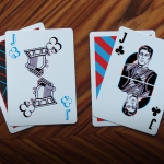 TRIPLE VISION Playing Cards. Put your red and blue glasses on and let's play poker