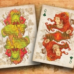 Relaunch of JACK IN THE GREEN Playing Cards. A deck with vivid and quite natural colors