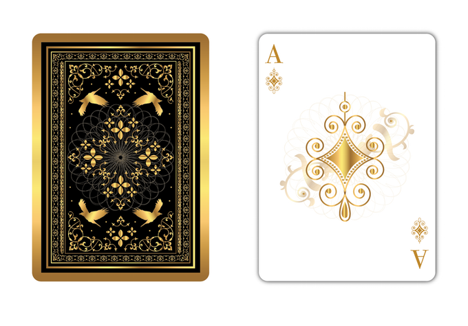 Angry Birds Playing Card Deck And Vector Characters: THE OTHER KINGDOM Playing Cards. Magic Golden Birds Will