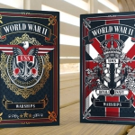 WORLD WAR II WARSHIPS Playing Cards. The maritime alliance between American and British