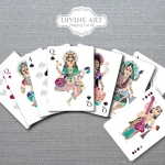 Relaunch of DIVINE ART Playing Cards. New tuck, new back and new printer for this deck about the Hindu Folk Art