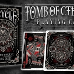 BICYCICLE TOMB OF CTHULHU Playing Cards. Mystery engraved on stone