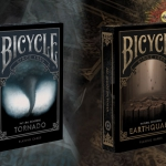 BICYCLE EARTHQUAKE and TORNADO Playing Cards. Two more disasters… but not the last