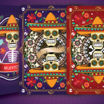 MUERTOS Playing Cards by Natalia Silva. The fun interpretation of the Mexican celebration