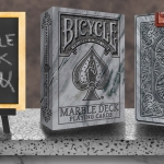 BICYCLE MARBLE Deck by Max. The LAST one of the RIDER BACK Texture Series