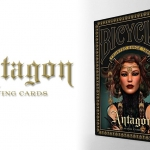BICYCLE ANTAGON deck. Beautiful and enigmatic medieval women take the playing cards power
