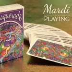 MASQUERADE MARDI GRAS Playing Cards. Brain Vessel's Carnival fills with color
