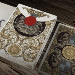 MEDIEVAL Playing Cards. The colorful version of this luxurious deck wrapped in gold