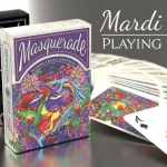 MASQUERADE MARDI GRAS Playing Cards. The successful relaunch of the colorist carnival