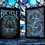 BICYCLE STAINED GLASS LEVIATHAN Playing Cards. The beast emerges from the depths