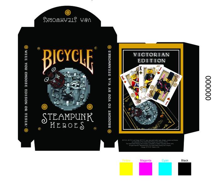 baraja bicycle lego steampunk heroes entrevista con su creador max playing cards. Black Bedroom Furniture Sets. Home Design Ideas