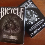 Bicycle Enigma and Phantom decks. The secret of the ambigram.
