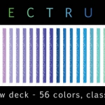 Received Bicycle Spectrum deck. Multicolor magic.