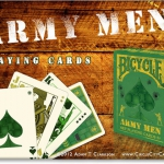 Bicycle 'Army Men' deck. Back to the childhood.