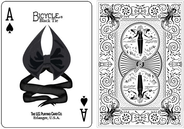 bicycle black tie playing cards