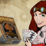 New Bicycle Amazing Adventurers deck. Steampunk comic style