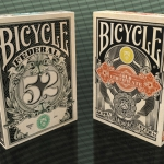 Federal 52 and Gold Certificate Bicycle decks. A lot of money used to create them. Interview to the creator, Jackson Robinson