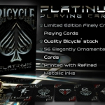 New deck by Elite playing cards: Bicycle Platinum. Liquid metal