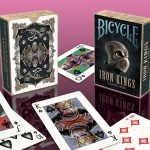 Bicycle Iron Kings deck. Tough warriors hidden behind a helmet