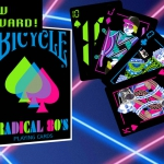 Radical 80's Bicycle deck. Playing cards in a cassette tape
