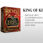King Of Kings Bicycle Playing Cards. The last work of TPX Designs