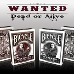 Bicycle Wanted Dead or Alive deck. Playing cards with reward!